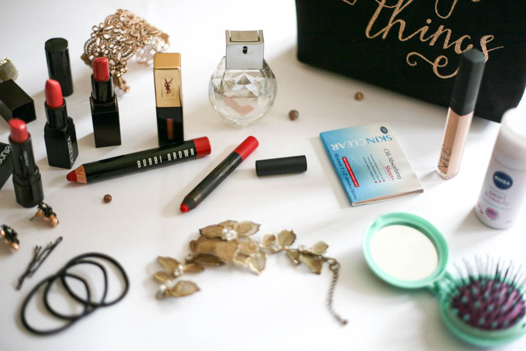what's in my makeup bag spread 1