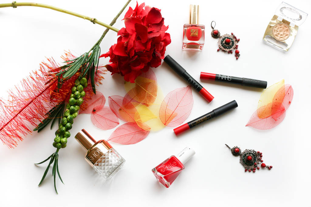 red lip crayons 1607 8