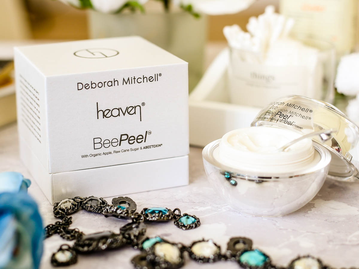 The Buzz About the Bee Peel By Heaven Skincare | Heaven Skincare Bee Peel styled with packaging_