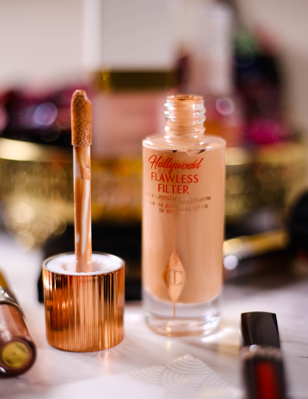 Get Red Carpet Ready With These Beauty Essentials | Feat Charlotte Tilbury Hollywood Flawless filter Complexion Booster with doe foot applicator