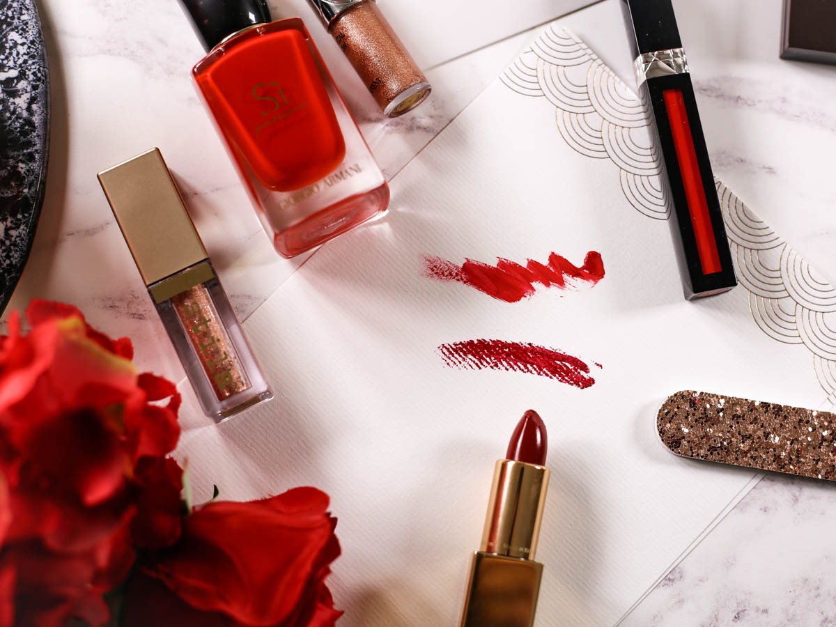 Get Red Carpet Ready With These Beauty Essentials | Feat swatches of & Other Stories lipstick & Dior Rouge Dior Liquid Lip Stain_