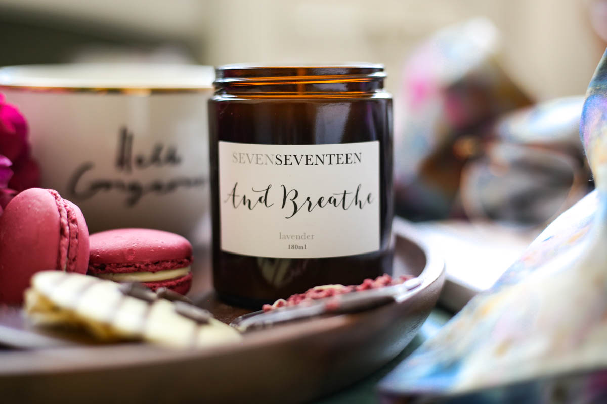 My Hydration Heroes for the Skin, Lips & Eyes   feat Seven Seventeen And Breathe Lavender candle
