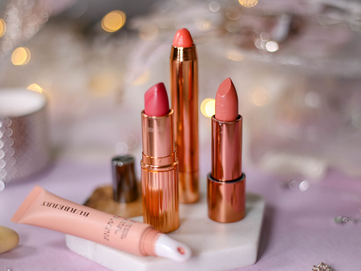Spring Beauty   My Top Picks for Embracing Softer Hues this Spring feat Charlotte Tilbury Matte Revolution Lipstick in Amazing Grace, Rosie for Autograph Lipsticks & Burberry gloss