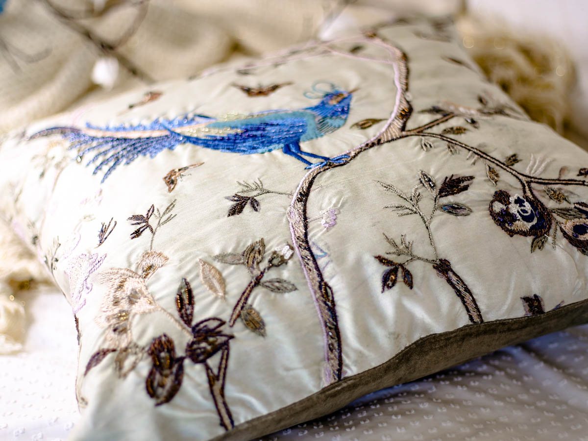 Spring Home Decor Ideas | Easy Ways to Freshen Up Your Home feat M&S Embroidered Bird Cushion