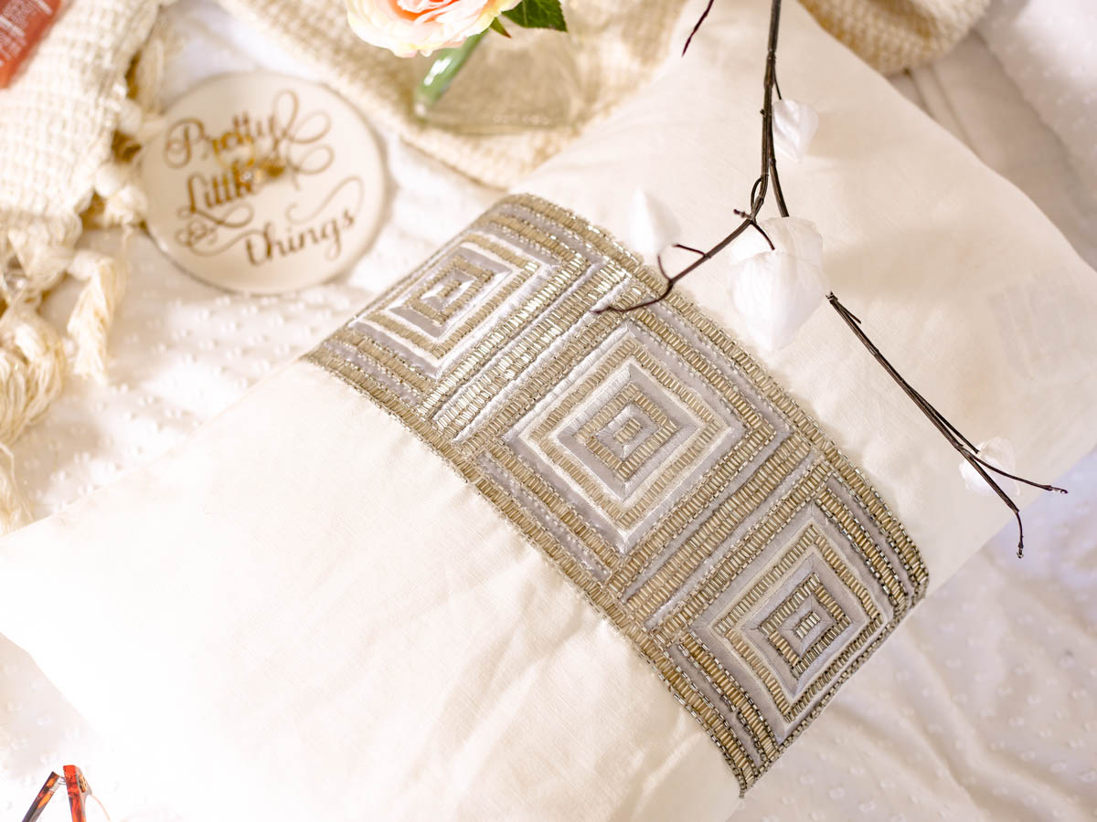 Spring Home Decor Ideas | Easy Ways to Freshen Up Your Home feat Zara Home Cushion Cover with Centrered Diamante Embellishment