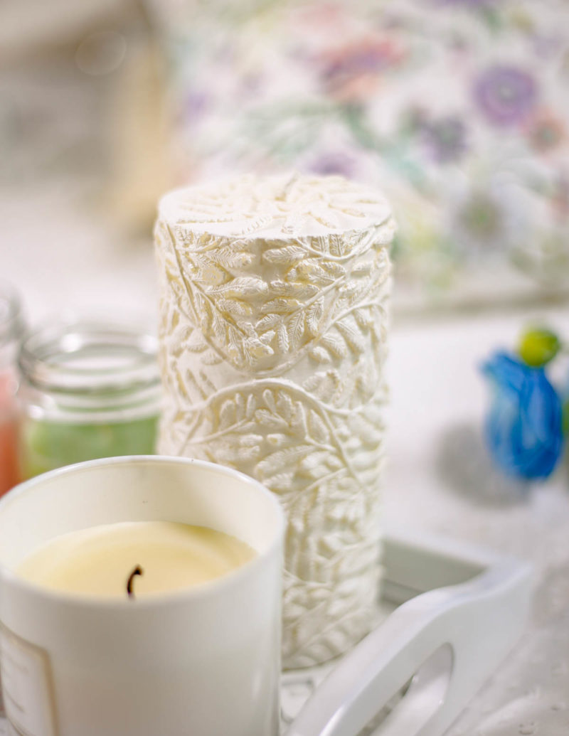 Spring Home Decor Ideas | Easy Ways to Freshen Up Your Home feat Zara Home RAISED FERN DESIGN CYLINDRICAL CANDLE