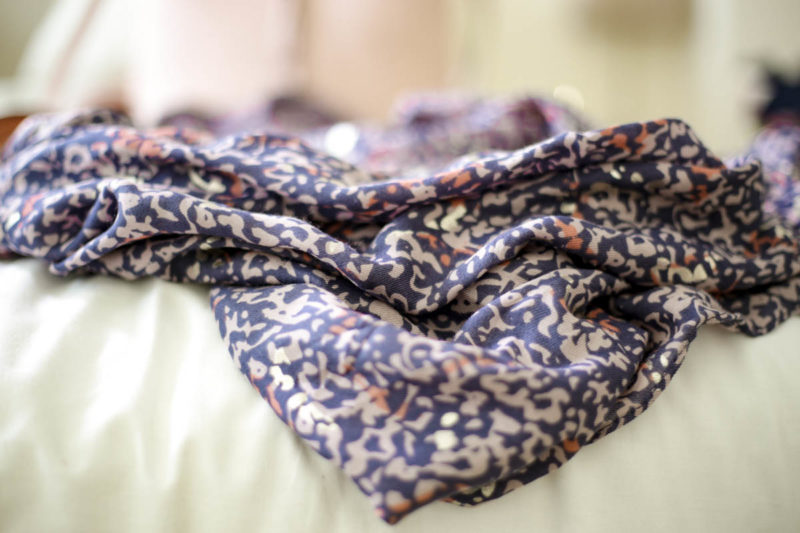 A Wardrobe Update With Some Key Fashion Pieces | feat Oliver Bonas blue print scarf