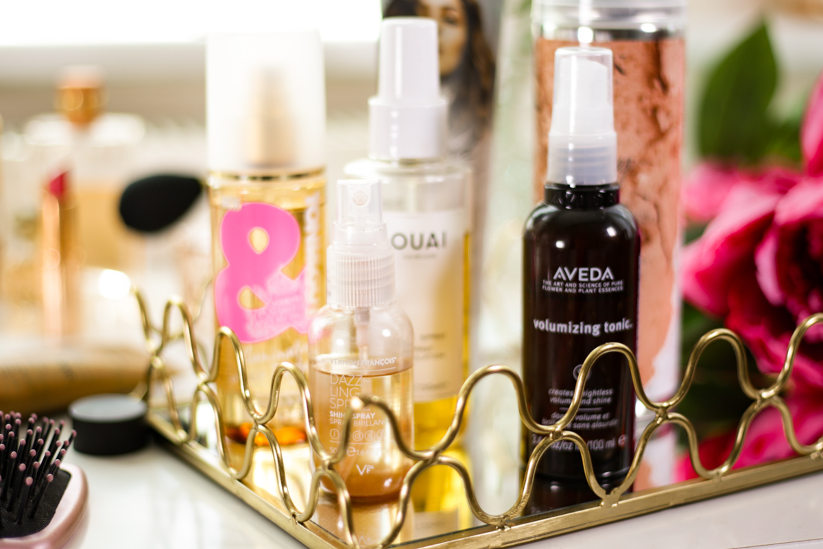 My Favourite Products for That Undone Hair Look | feat close up of Aveda Hair Volumizing Tonic