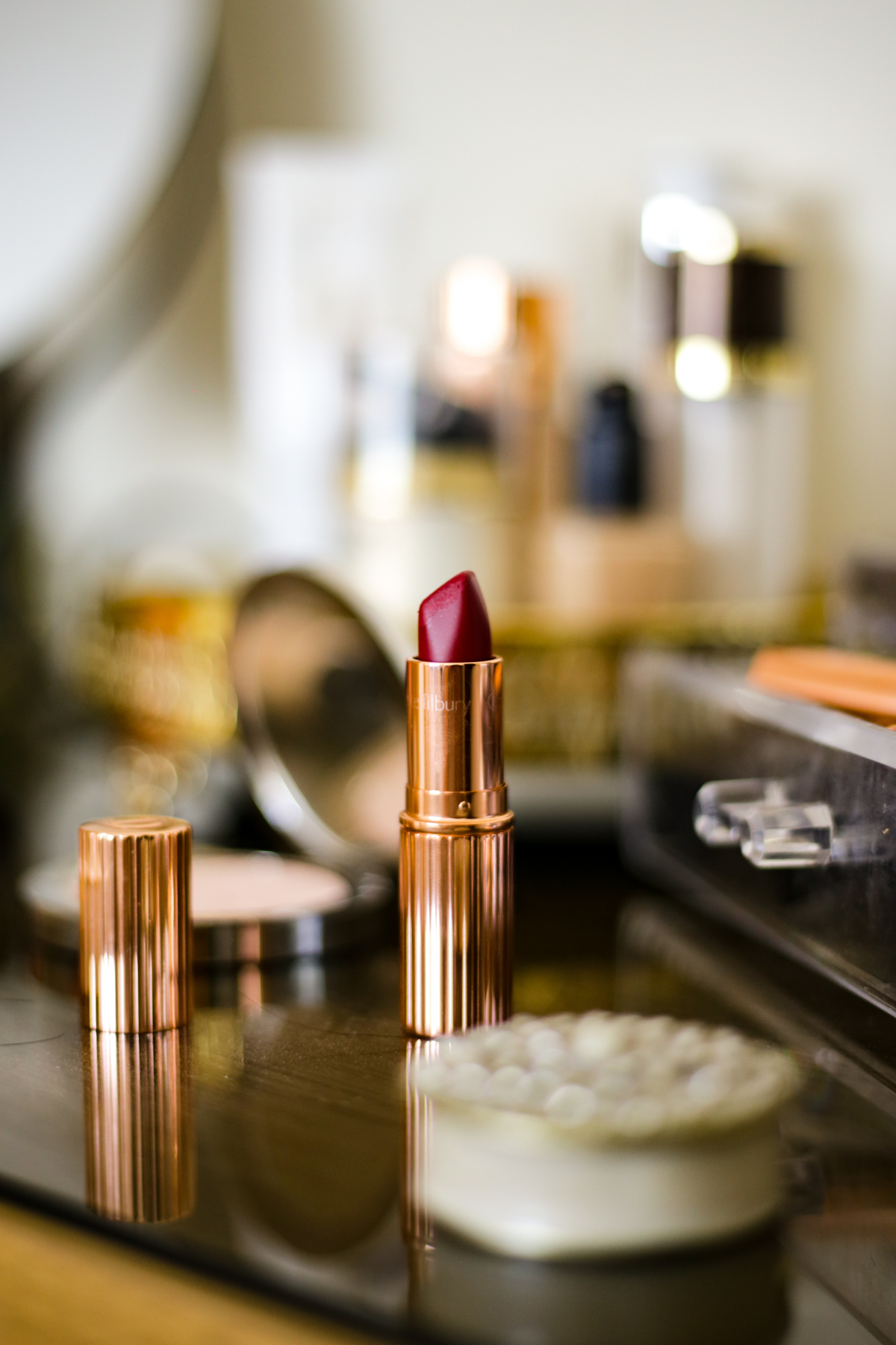 What's Currently On My Dressing Table | feat Charlotte Tilbury Matte Revolution Lipstick in Red Carpet Red