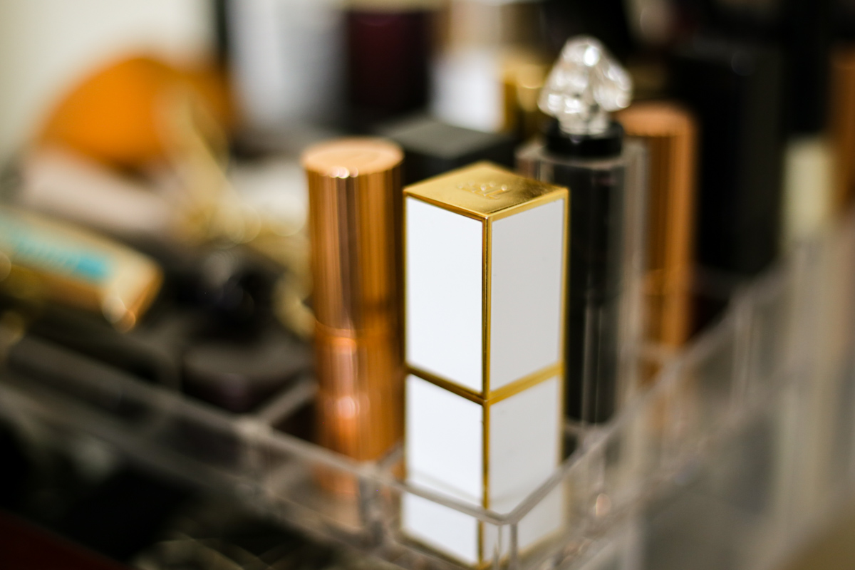 What's Currently On My Dressing Table   feat Tom Ford in Solar Affair & lipsticks in holder