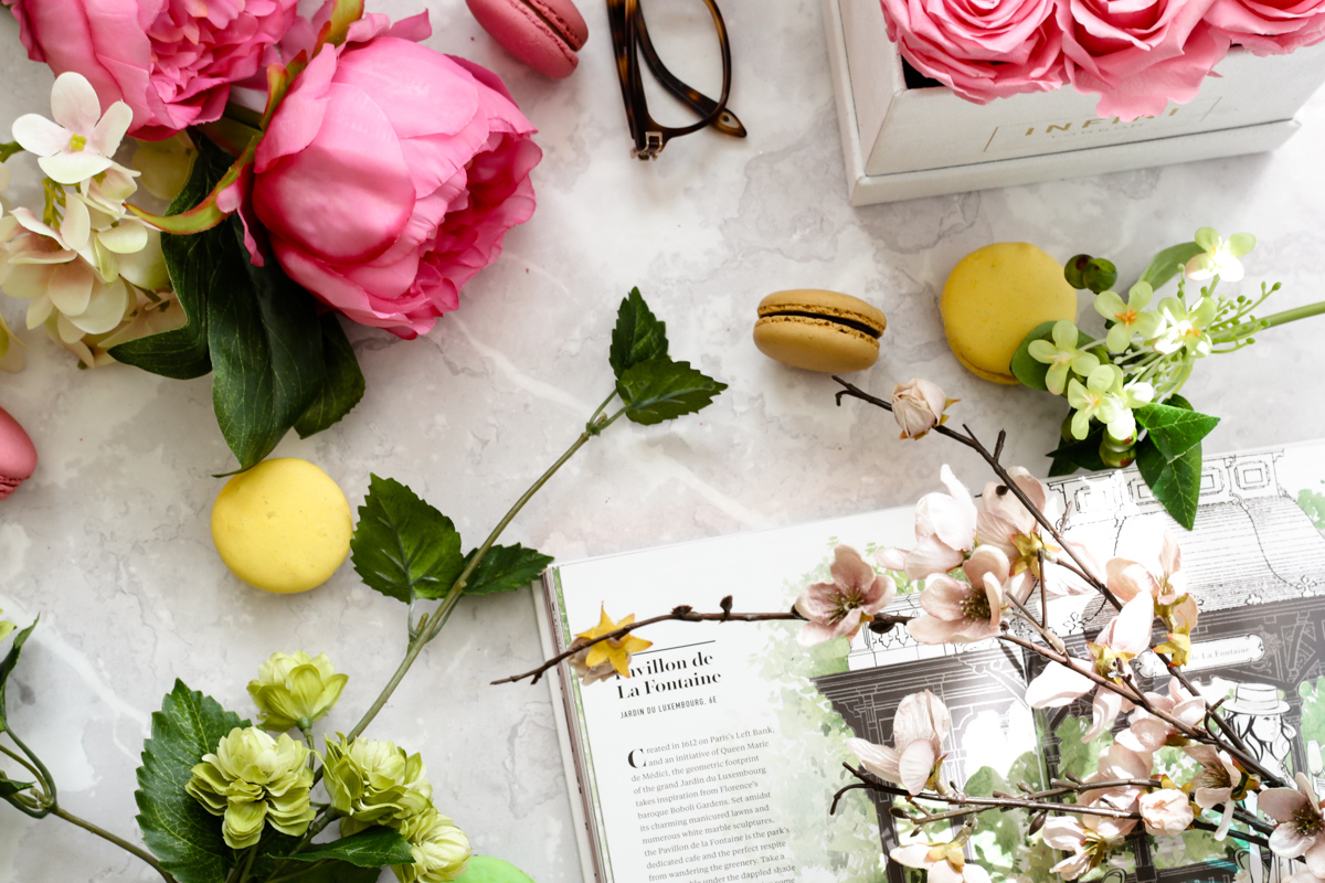 Blog Photography | Four Photo Styling Props I Love feat Infini Roses styled with foilage and book and glasses
