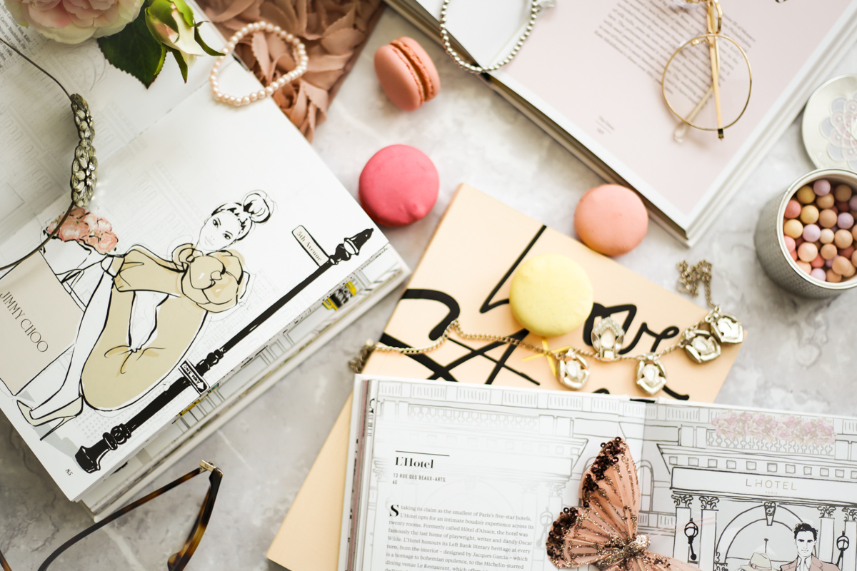 Blog Photography | Four Photo Styling Props I Love feat Megan Hess & Garance Dore books styled with butterfly and macarons