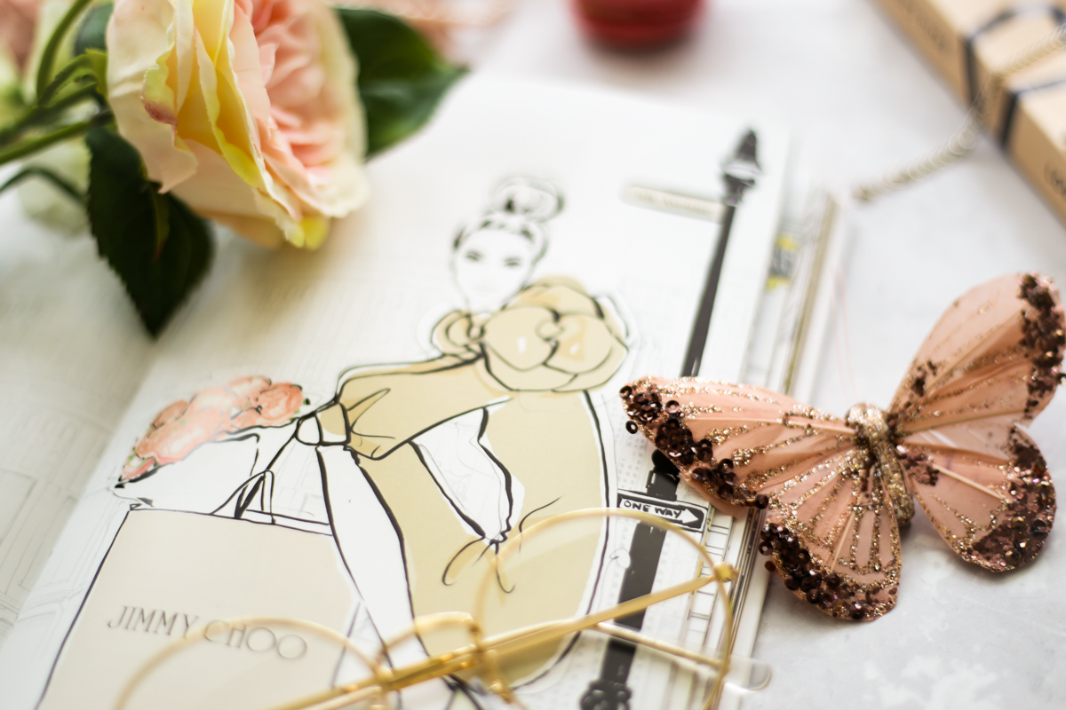 Blog Photography | Four Photo Styling Props I Love feat Megan Hess book styled with butterfly and glasses