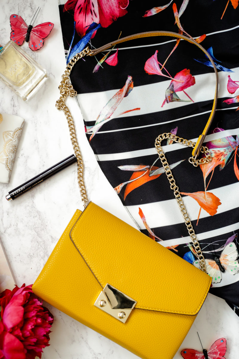 Summer Fashion & Beauty Favourites | feat Mango Yellow Chain Cross Body Bag