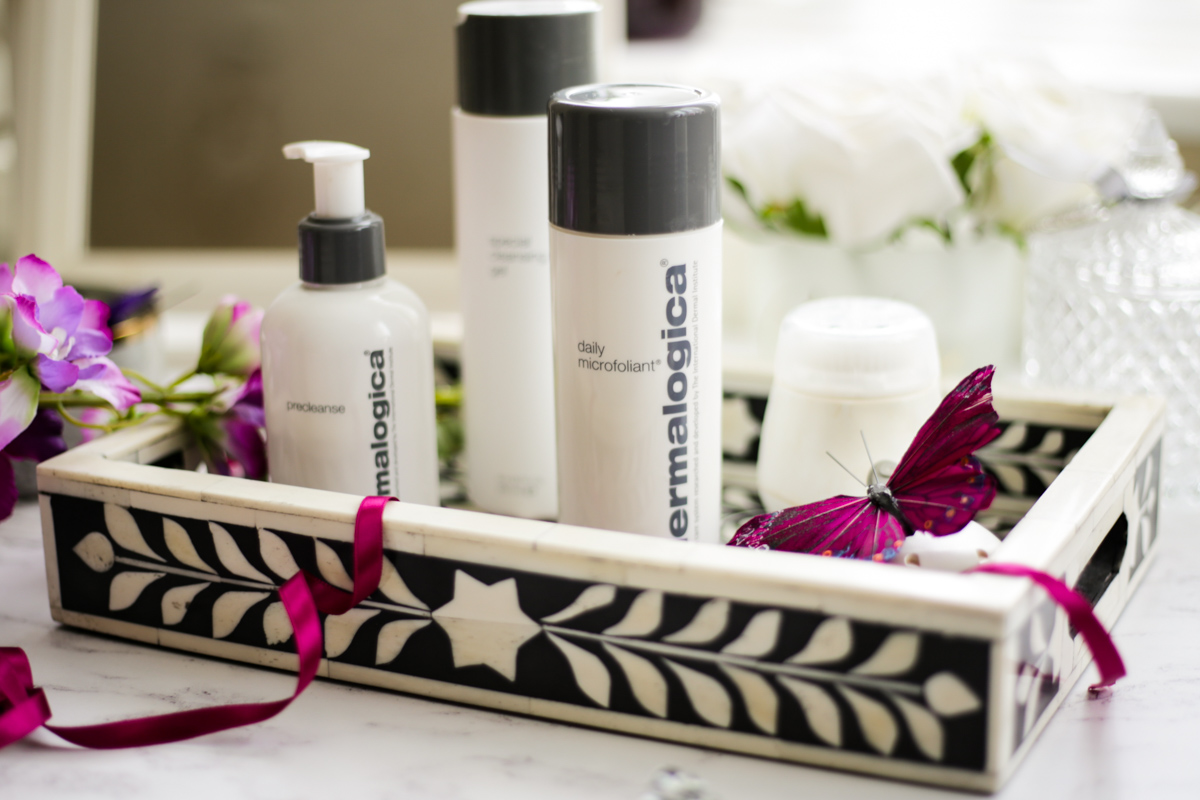 The Products that Restore My Skin Back to Normality | feat Dermalogica skincare & Clarasonic in black & cream tray_
