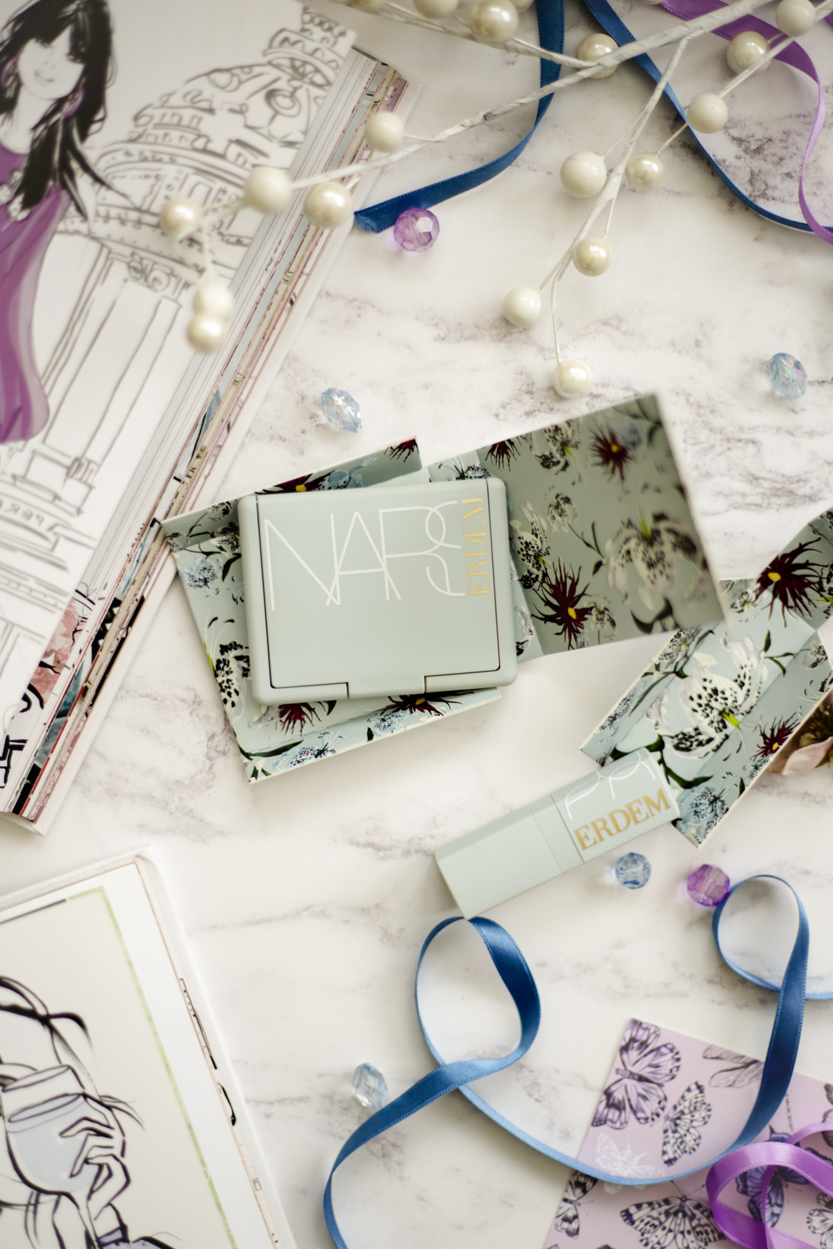 Ticking Off Some Items From My Wishlist | Nars X Erdem Collection blusher & lipstick packaging