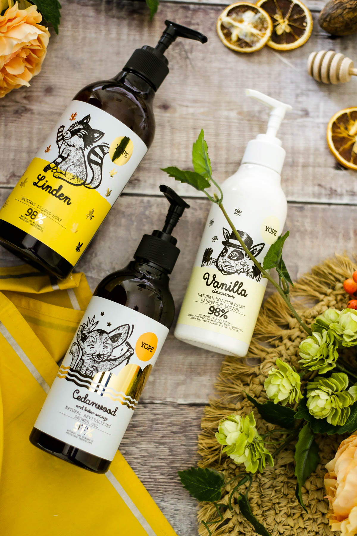 Three-skincare-Essentials-from-Yope-feat-Yope-Natural-liquid-soap-shower-gel-and-hand-body-lotion